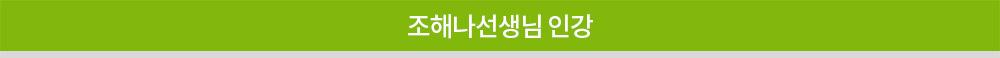 조혜나선생님 인강